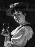 EW 0381 – Mädchen mit Weinglas