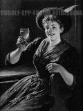 EW 0385 – Mädchen mit Weinglas