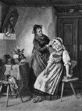 """EW 0388 – Großmutter und junge Frau beim Ankleiden der Tracht (""""Sonntagsputz"""")"""