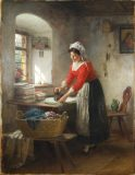 EW 0432 – Bügelnde Frau