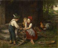 EW 0434 – Drei Kinder mit Schubkarre