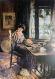 EW 0471 – Nähende junge Frau
