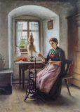 EW 0472 – Frau am Spinnrad
