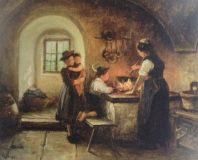 EW 0475 – Frau mit Kindern am Herd