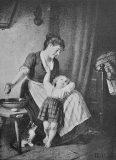 """EW 0483 – Mutter mit Kind am Bett (""""Sonntagswäsche"""")"""