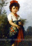 EW 0119 – Mädchen mit Wildblumen