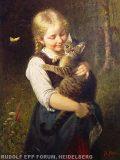 EW 0264 – Mädchen mit Katze
